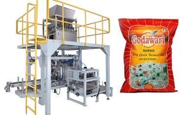 голяма чанта грануларна машина за опаковане на тежки торби за ориз