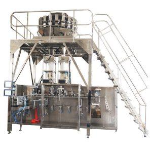 Хоризонтална предварително изработена опаковъчна машина с многочестотни везни за гранули